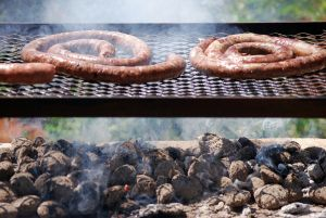 A traditional South African braai